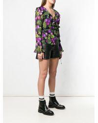 Marc Jacobs Black Oberteil mit Blumenmuster