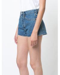 Re/done Blue Denim Shorts