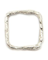 Niza Huang Metallic 'illusion Square' Ring
