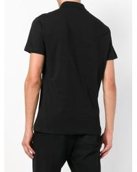 Versace Jeans Black Logo Printed Polo for men