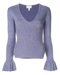 Alice McCALL Purple Love Letters Knitted Top