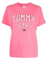 Tommy Hilfiger Pink Logo-print T-shirt