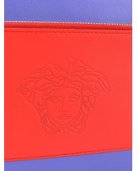 Versace Blue Medusa Clutch Bag