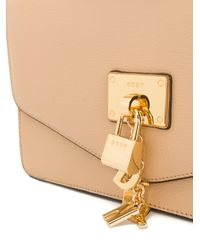 DKNY - Natural Flap Shoulder Bag - Lyst