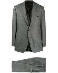 メンズ Kiton シングルスーツ Gray