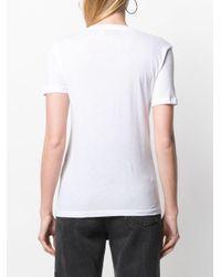 Être Cécile White Logo Print T-shirt