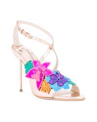 Sophia Webster | Multicolor Floral Metallic Sandals | Lyst