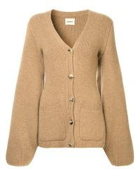 Khaite Brown Lucy Buttoned Sweater