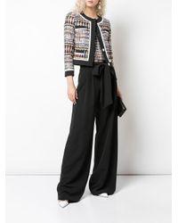 Pantalon ample à taille ceinturée MILLY en coloris Black