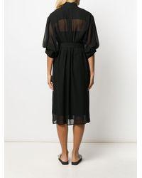 DKNY ベルテッド シャツドレス Black