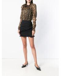 Magda Butrym Brown Leopard-print Blouse