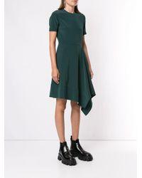 Calvin Klein アシンメトリーヘム ドレス Green