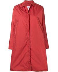 Aspesi Orange Single Breasted Coat