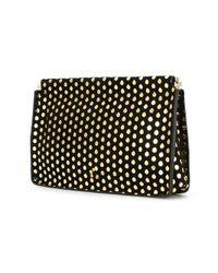 Jérôme Dreyfuss Black Dotted Clutch Bag