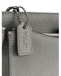 COACH Gray Front Logo Crossbody Bag