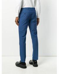 Prada - Blue Slim Tailored Trousers for Men - Lyst