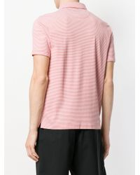 Michael Kors Red Striped Polo Shirt for men