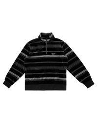 メンズ Supreme ハーフジップ スウェットシャツ Black