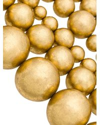 Monies - Black Oversized Beads Necklace - Lyst