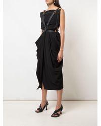 Proenza Schouler ドレープ ドレス Black