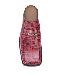 Mocassins effet peau de serpent à bout carré Martine Rose pour homme en coloris Pink