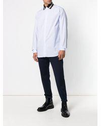 メンズ N°21 コントラストカラー シャツ White