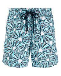 Vilebrequin Blue Printed Swim Trunks for men