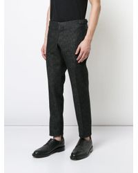 Thom Browne Black Tapered Tailored Trousers for men