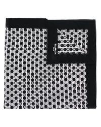 メンズ Balmain モノグラム スカーフ Black