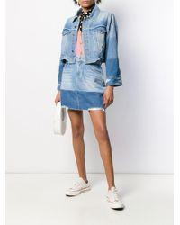 Veste en jean à effet usé SJYP en coloris Blue