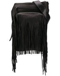 Сумка На Плечо С Бахромой DSquared² для него, цвет: Black