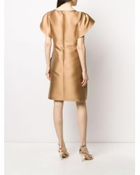 Alberta Ferretti レイヤードスリーブ ドレス Natural