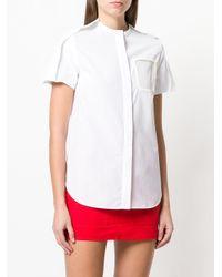 Courreges - White Stitch Detail Shirt - Lyst
