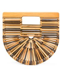 Cult Gaia - Brown Mini Ark Clutch - Lyst