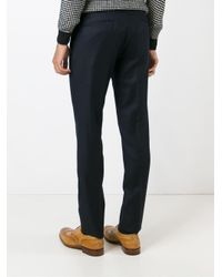 Incotex - Blue Slim Fit Tailored Trousers for Men - Lyst