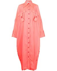 Chemisier oversize di Christopher John Rogers in Pink