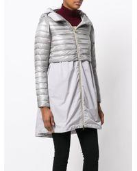 Herno Gray Long Down Coat