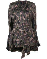 Thomas Wylde Green Camouflage Coat