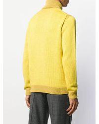 Maglione a collo alto di Roberto Collina in Yellow da Uomo
