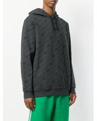 Adidas Gray All Over Print Hoodie for men