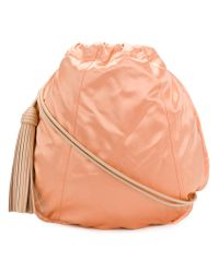 Nina Ricci Orange Drawstring Shoulder Bag