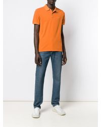 Woolrich Orange Short-sleeved Polo Shirt for men