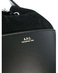 A.P.C. Black Bucket Bag