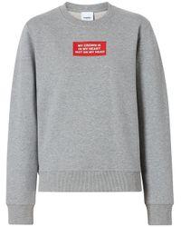 Burberry プリント スウェットシャツ Gray