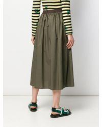 Roberto Collina Green Gathered A-line Skirt