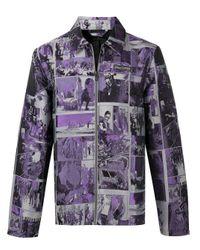 メンズ Daily Paper ジャカード ジャケット Purple