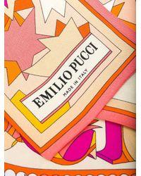 Foulard con stampa di Emilio Pucci in Multicolor