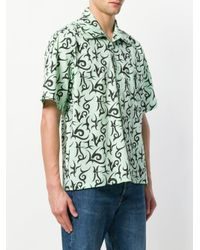 Aries - Green Geometric Pattern Shirt for Men - Lyst