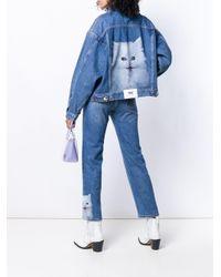MSGM プリント デニムジャケット Blue