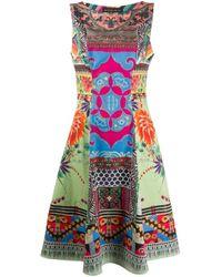 Etro パッチワーク ノースリーブドレス Multicolor